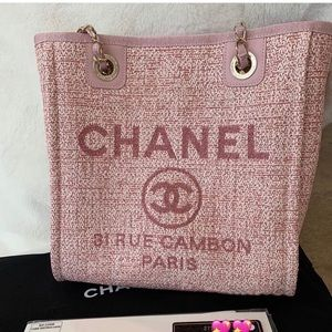 Chanel mini pink with gold hardware